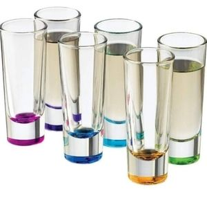 Shot Glasses, New In Box, Multiple Colors,Drinking